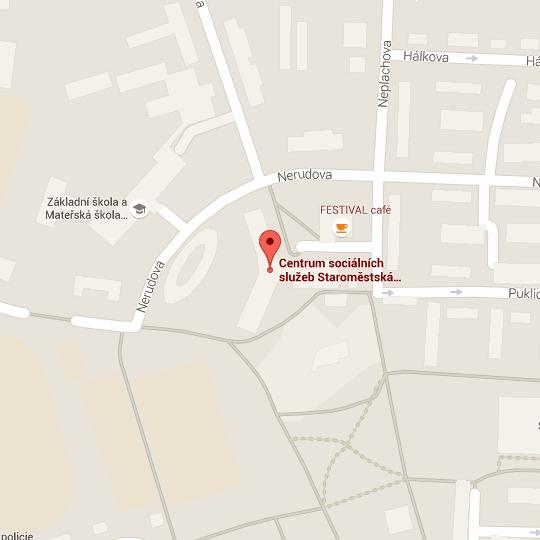 Místo na mapě, kde najdete Centrum sociálních služeb Staroměstská